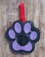 purple paw lip balm holder