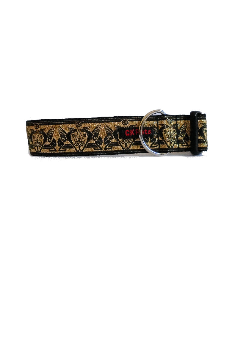 gold flying dogs collar
