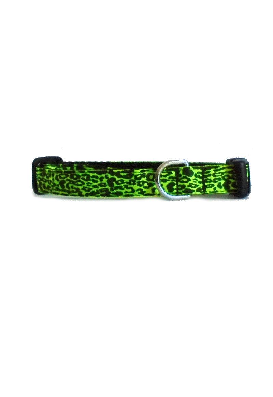 green cheetah collar