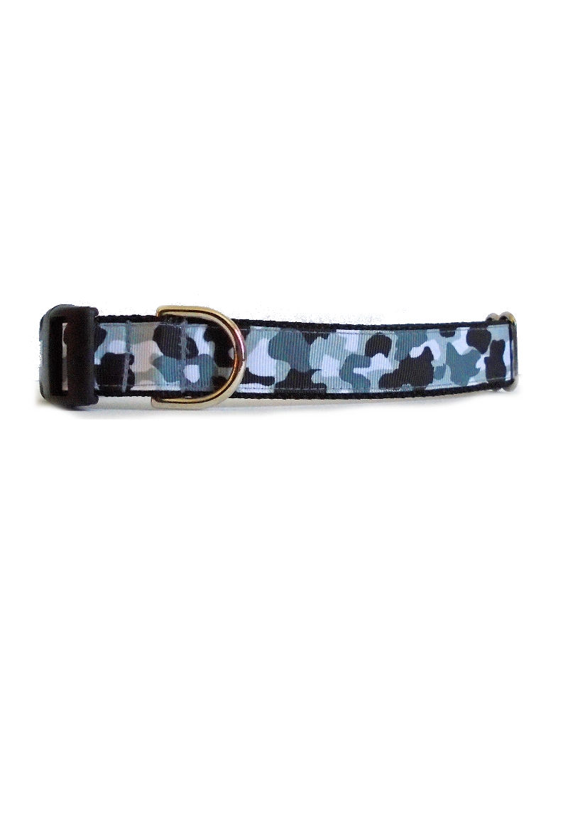 black white camo collar