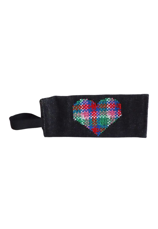 Blue Red Heart bag