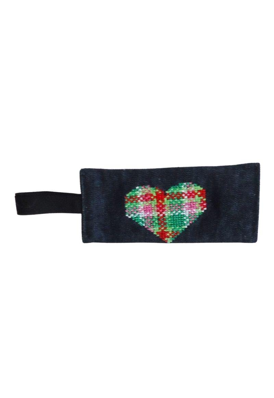 Green Pink Heart bag