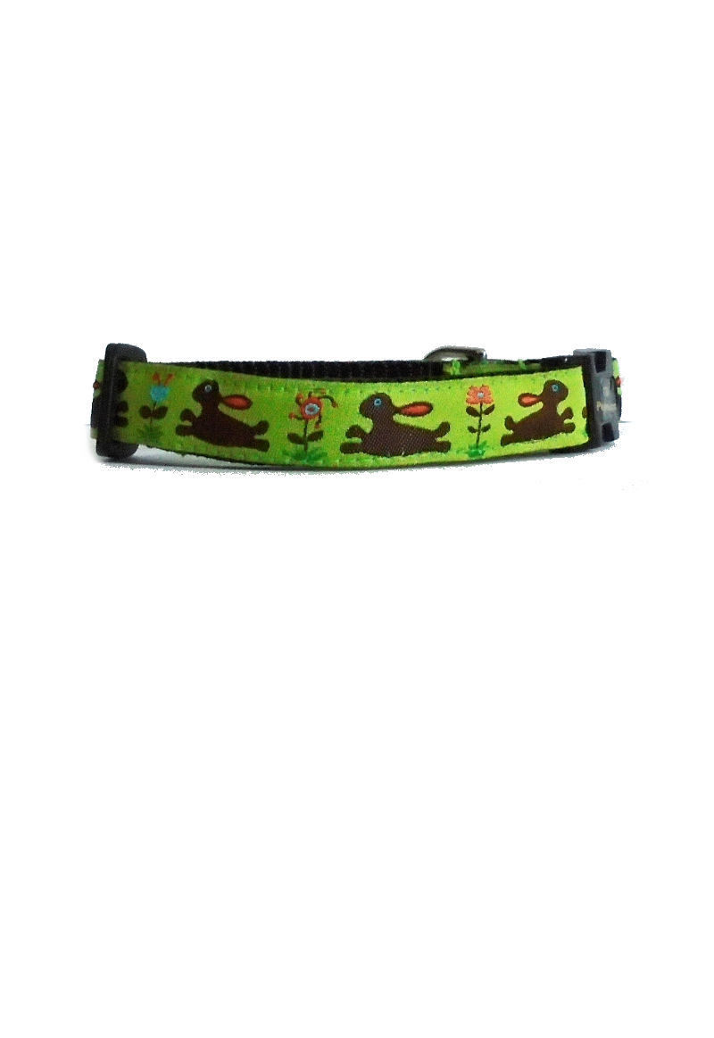 leaping bunny dog collar