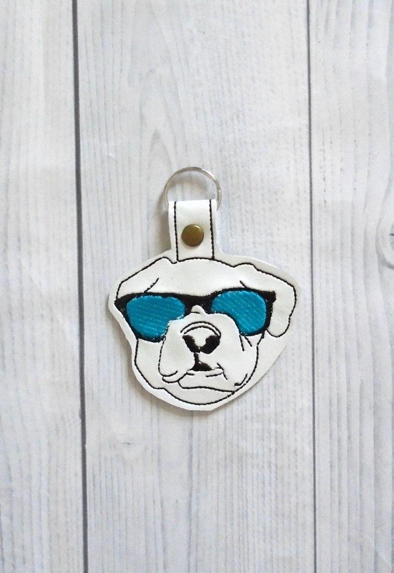 cool dog keychain