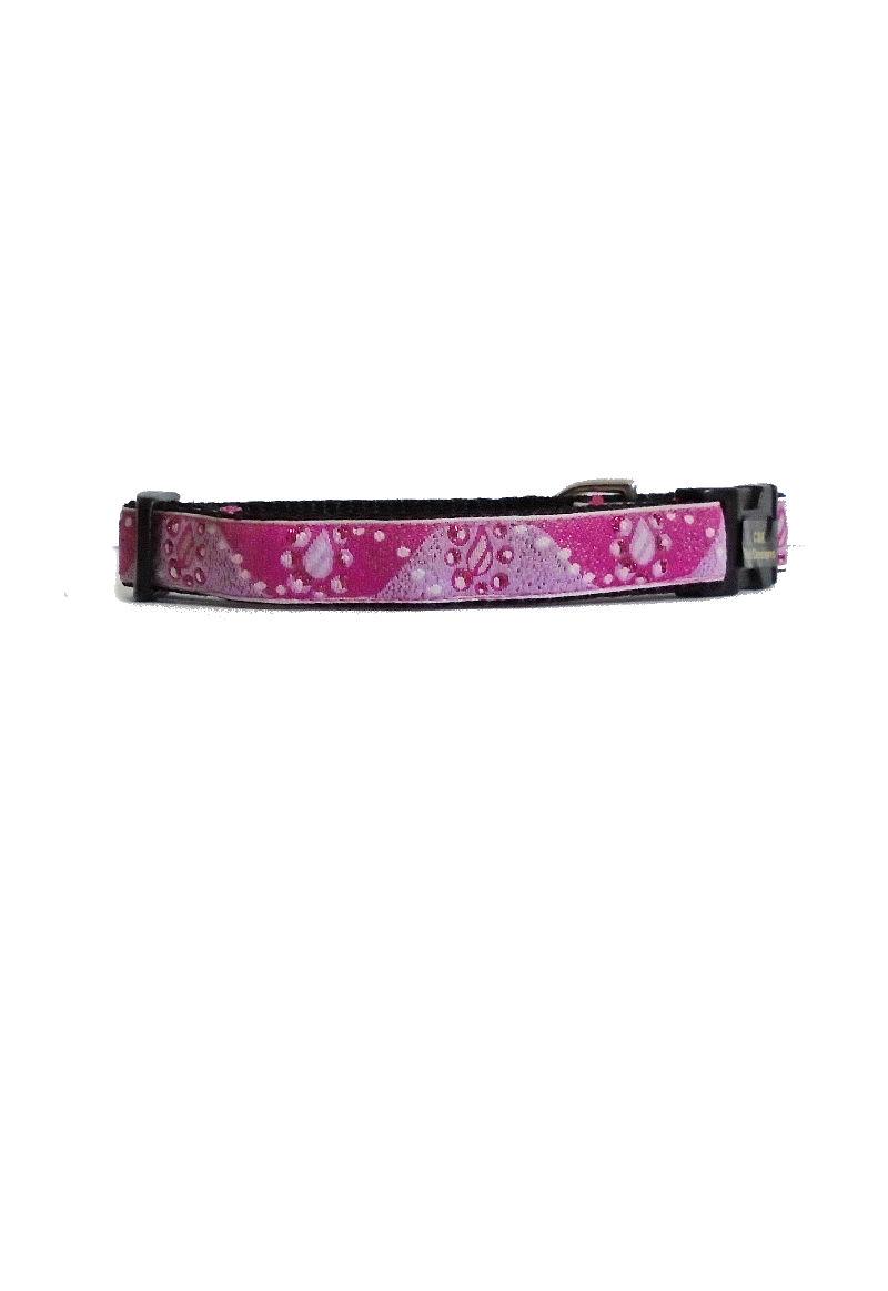 pink and sparkles dog collar